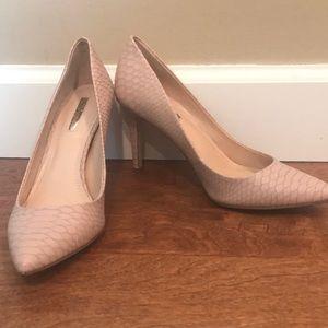 BCBG Generation Nude Pink Heels Size 7